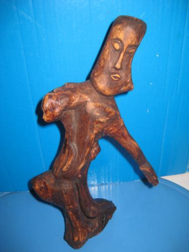 Statuieta abstracta lemn semnata MAMOS.