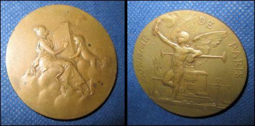 Medalia bancara Monnaie de Paris, Valuta Franta 1900. Diam. 5cm, bronz, stare buna.