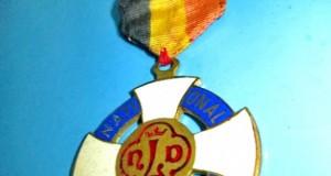 Medalia NLD Liege Belgia-J.Sandre-J.Evrard-Successeur 1947. Metal emailat si aurit, stare generala b