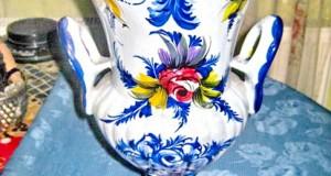 Amfora mare PORTUGAL portelan-ceramica stare foarte buna. Piesa mai rara si deosebit prelucrata si r