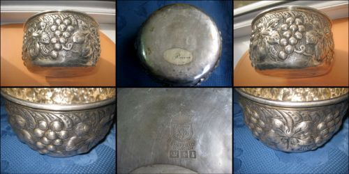 Bol vechi Eduard Sheffield Collection Anglia. Bronz argintat design vita de vie. Stare buna in patin