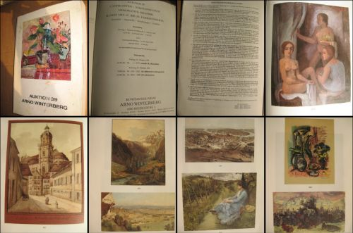 Anticariat de Arta-Catalog Auktion 39-Arno Wintemberg-1989. Weltkarten- Landkarten, Peisaje, Grafica