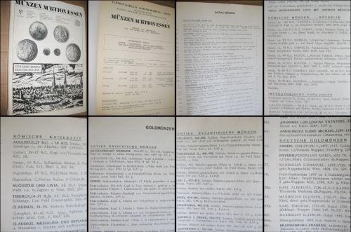 Catalog Licitatie Monede Essen Germania Mai 1986. Marimi: 29_20 cm, 144 pagini. Stare buna, coperta