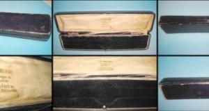 Jancovici S.A.Horloger&Bijoutier, CRAIOVA-Str. Unirei 63. Cutie veche interbelica carton pentru biju