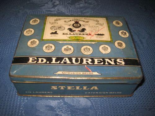 Ed Laurens Stella Cutie tigarete veche cca 1920-30. Marimi -14_10_4cm.
