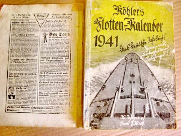7391-I- W.Kohler-Calendar Marina 1941.