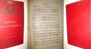 Partitura veche opera muzicala Lortzing-Tar si Tamplar-Claviatura cu text-Collection Litolff. Stare