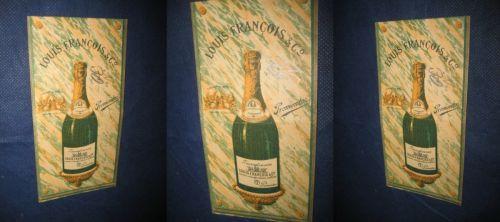 Champagne Louis Francois& Co. Transylvania Promotor. Reclama veche