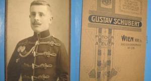 Set 4 buc CDV Foto Militare: Germania, Austro-Ungaria. Originale, anii 1900.