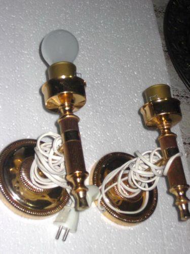 Set 2 Veioze electrice stil Louis 16 metal aurit.