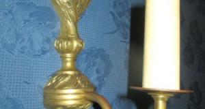 Aplica electrica in bronz stil baroc.