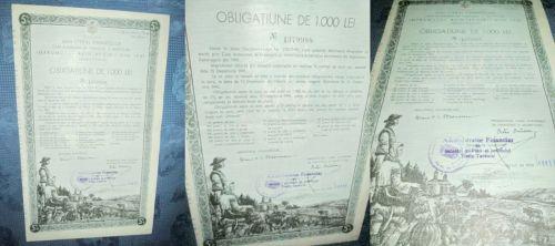 Acte vechi-Obligatiune Imprumutul Reintregirii 1941-Timis-Torontal.