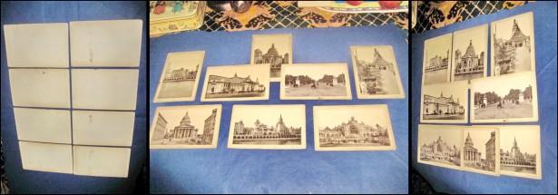 Colectie de 8 CDV- Foto vederi vechi  anii 1900.
