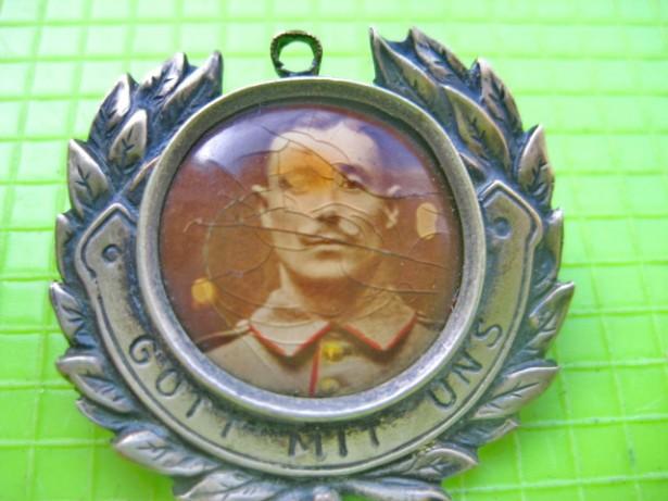 8175-ww1-Raritate-Insigna militara soldat Gott mit uns-DRGM Germania