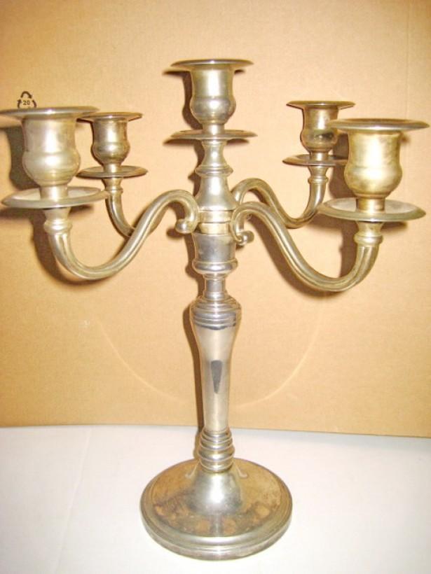 8304-I-Sfesnic 5 brate pliabil metal argintat stare buna.
