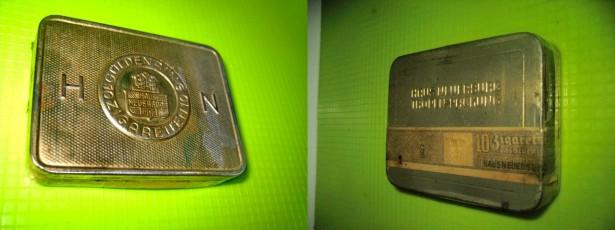 Cutie veche Tigarete HN Guldenring 10 Cigaretten Hause Neuerburg