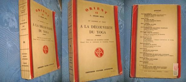 2256-I-L.A.Beck-Orient Yoga veche, carte franceza editie 1938.