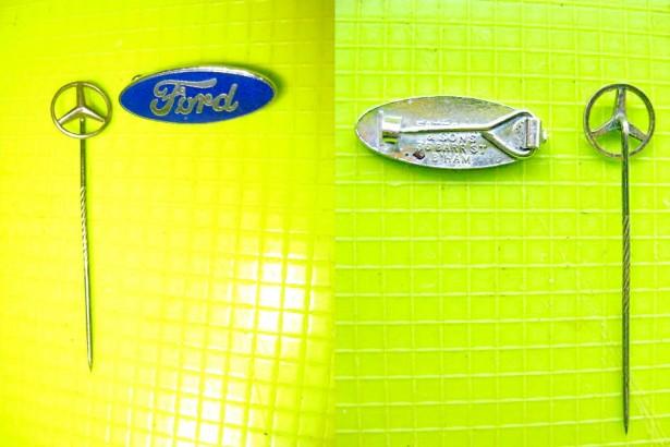 Insigne Ford+ Mercedes. Ford Fattorini & Sons 36 Barr Street B` Ham.