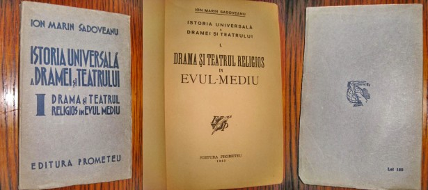 I.M.Sadoveanu- Istoria universala a dramei-teatrului 1942 prima editie