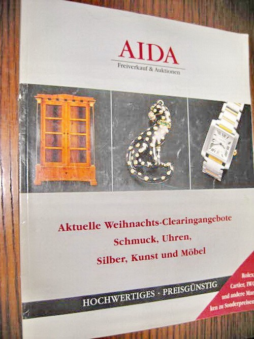 9316-Aida-Ceasuri si bijuterii Rolex, Cartier, IWC etc. Catalog Euro.