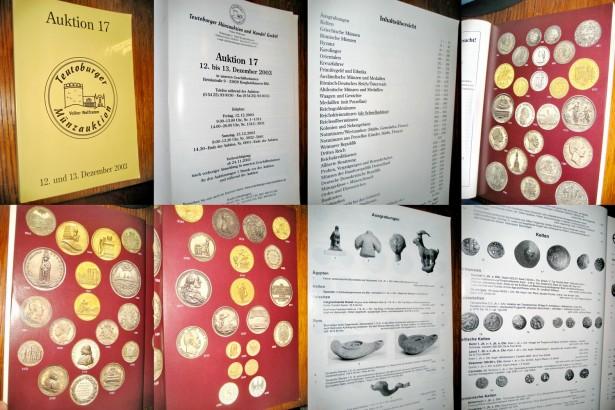 Catalog mare Teutoburger Auktion-Licitatii 17 monede-obiecte antice.