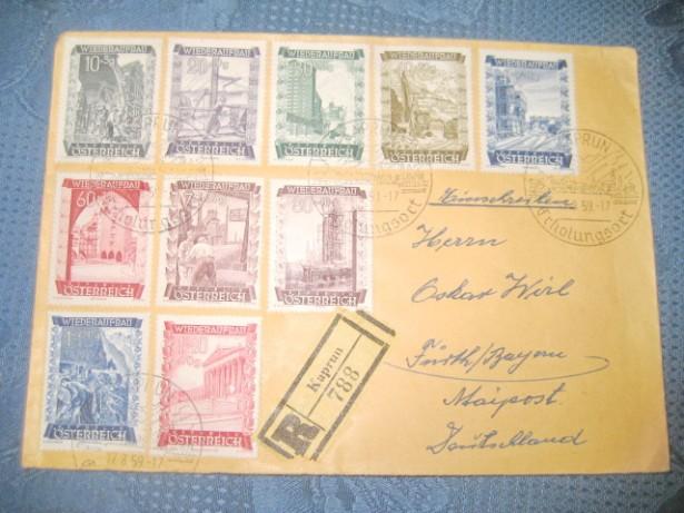 A569-Filatelie-Scrisori si Plicuri, F.D.C. vechi Austria stampile...