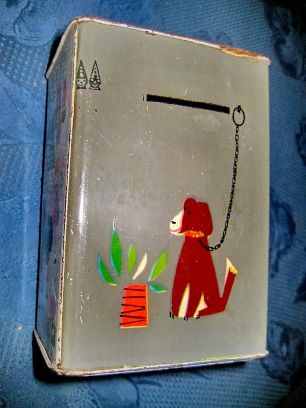 A815-Caseta pusculita metal maimuta si copii.
