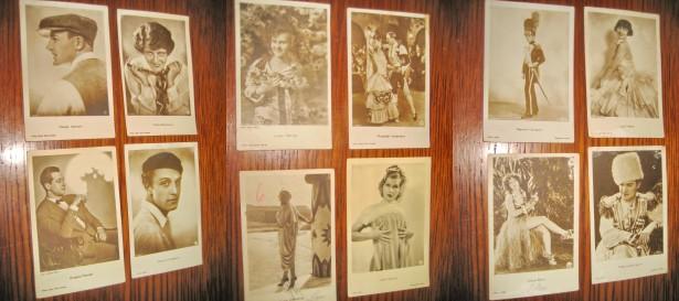 A910-Set 15 Carti Postale vechi cu Artisti inainte de razboi.