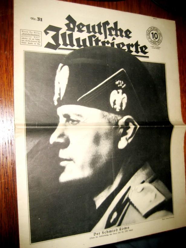 B79-I-ww2-Deutsche Illustrierte-Revista nazista propaganda 3 Reich.