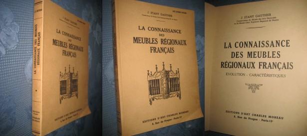 B190-Cunoasterea Mobilei regionale Franta veche Album Arta 1952 Paris.