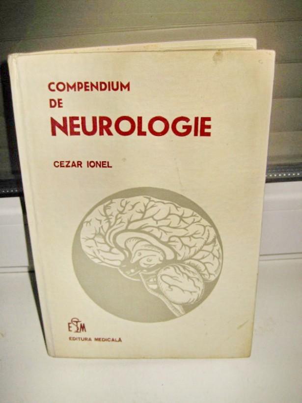 2588-Carte Medicina.Cezar Ionel-Compendium de Neurologie 1974.