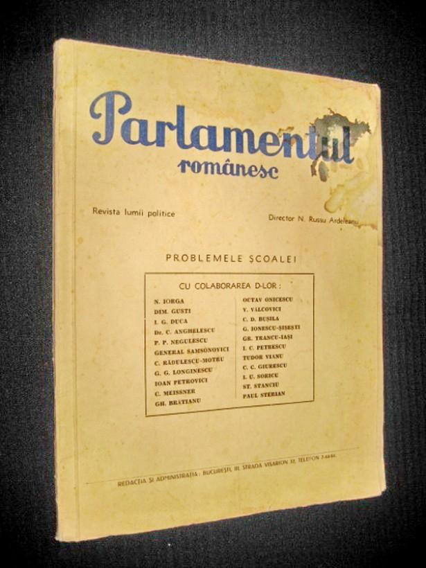 2745-Parlamentul Romanesc-semnata de N. Iorga si alti..