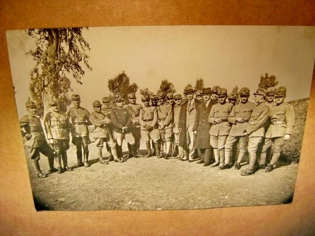 B257-I-WW1-Foto veche Medici romani ofiteri primul razboi mondial.