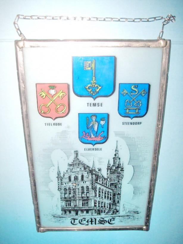 4669-Aplica sticla montura metal comitat TEMSE Belgia.