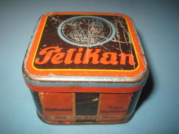 5322-Cutie veche colectie metal Pelikan scwartz.