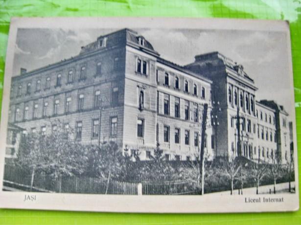 B766-IASI-Liceul Internat 1916-Carte Postala veche.