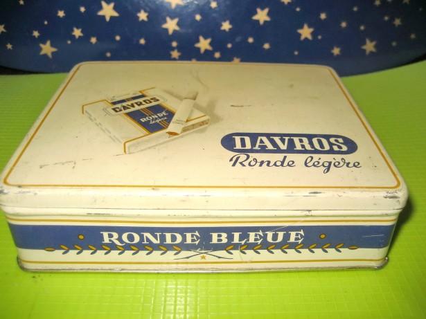 A17-Cutie veche Tigarete Davros Ronde blue Legere metal.