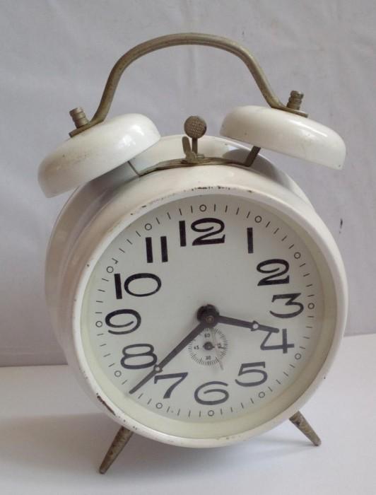 ceas mecanic deșteptător ARADORA, full metal, funcțional