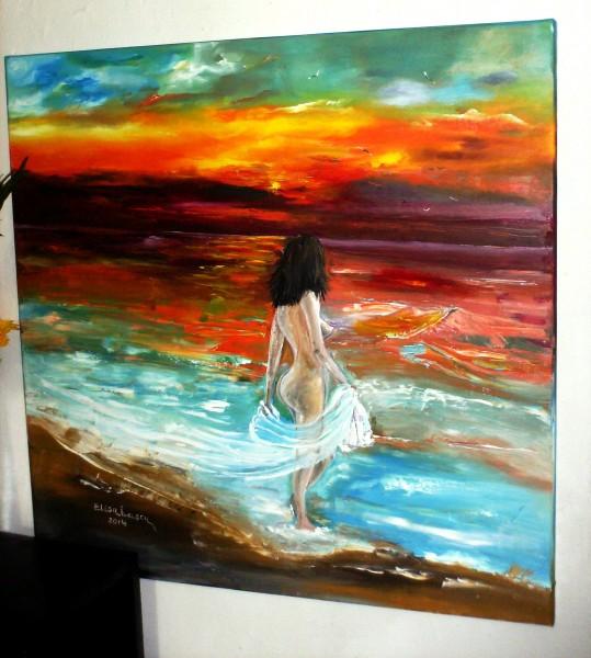 Tablou `Fata marii`, pictura in ulei pe panza