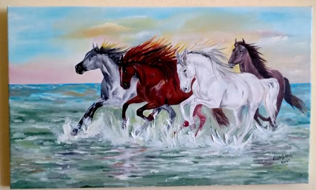 Caii intr-o libertate deplina, picturi