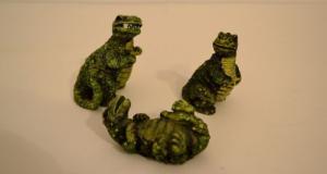 Set de 3 dinozauri figurine deosebite din ceramica