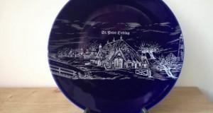 Farfurie decorativa din portelan, produsa de Porzella din Germania