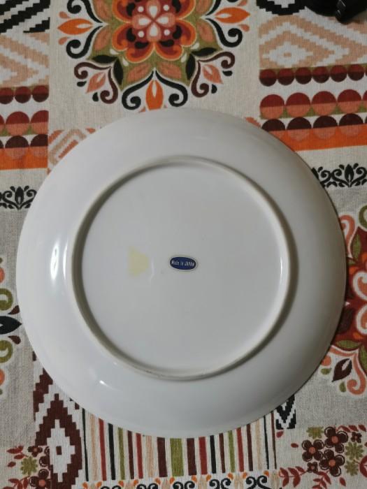 Farfurie decorativa portelan cu pasari si flori, Japonia