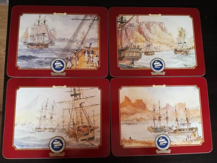 Set de coaster coastere suporturi protectie masa; corabii