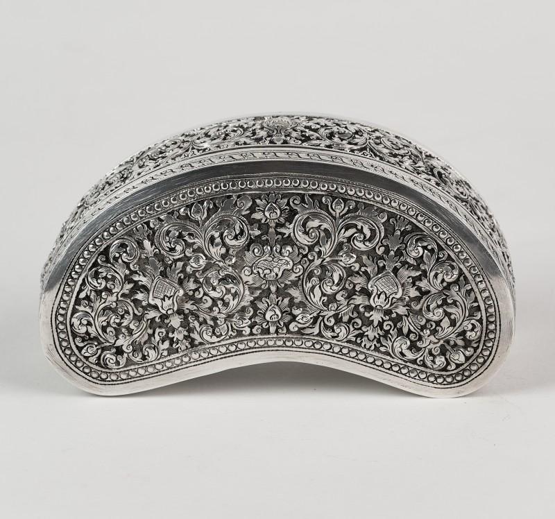 Superba cutie mare de argint 900,Yogya Indonezia cca 1900