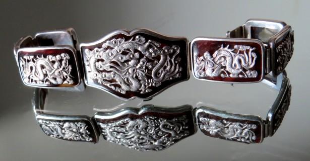 Veche bratara argint china sau japonia1900