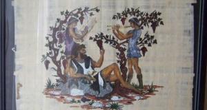 Tablou scene Grecia antica -papirus