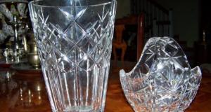 Oferta-vaza mare si cos cristal