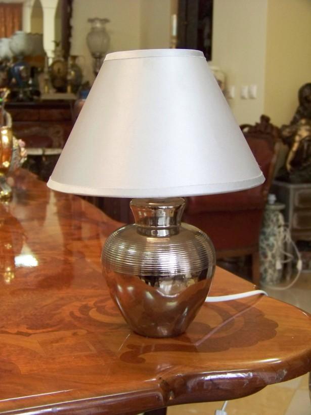 lampa portelan argintiu-lucios 28 cm
