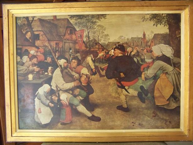 tablou Dans taranesc -Pieter Bruegel  lito. 66-48 cm